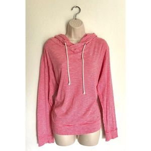 J. Crew Red Striped Hooded Pullover